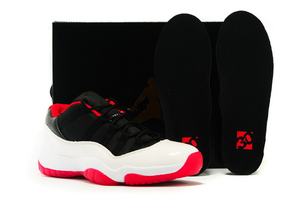 Air Jordan 11 Red Sample Shoes White/black red